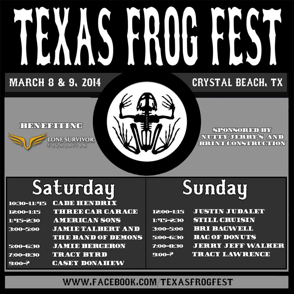 texas frog fest lineup