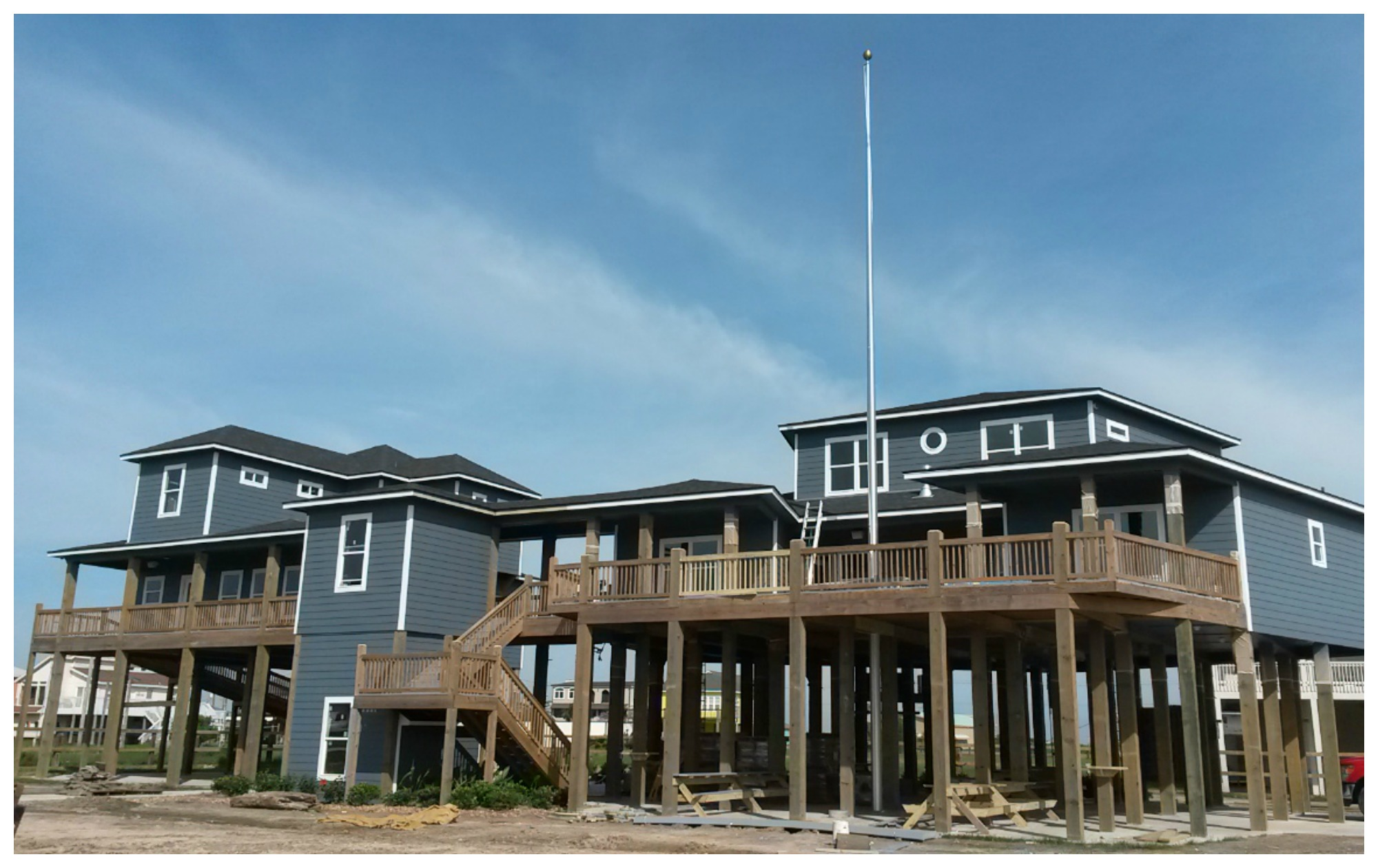 April 23, 2015 - Coming in at just under one year from ground breaking to grand opening, the Lone Survivor Foundation Crystal Beach Retreat Facility stands tall.
